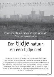 jg2_nr4_Permanente en tijdelijke natuur in de ... - Natuurpunt Gent
