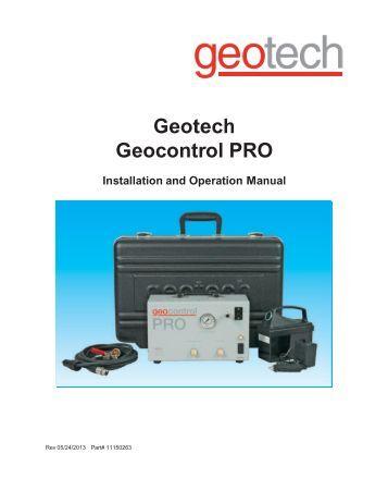 Ultrarae 3000 Basic Operation Pocket Reference Geotech