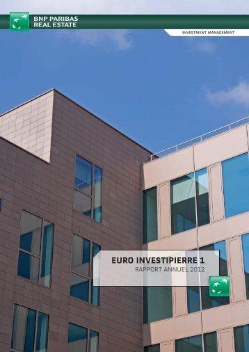 Rapport annuel - Euro Investipierre 1 - 2012 - BNP Paribas REIM