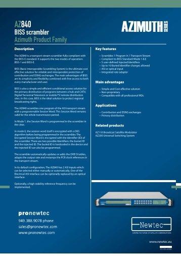 AZ840 BISS scrambler - TBC Integration