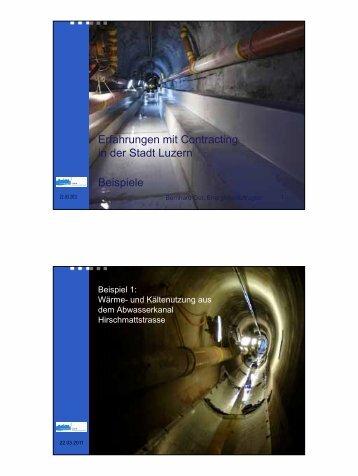 Erfahrungen mit Contracting in der Stadt Luzern Beispiele - Energie ...