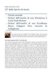 apri il PDF delle sintesi - Frati Cappuccini Italiani