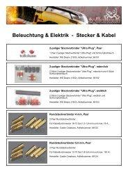 Beleuchtung & Elektrik - Stecker & Kabel