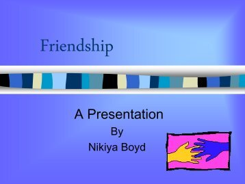 Friendship PowerPoint
