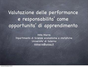 Valutazione delle performance e responsabilita - Pubblica ...