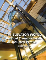 table of contents - Elevator World