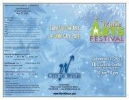 Wylie Arts Festival 300 Country Club Road Wylie, TX ... - City of Wylie