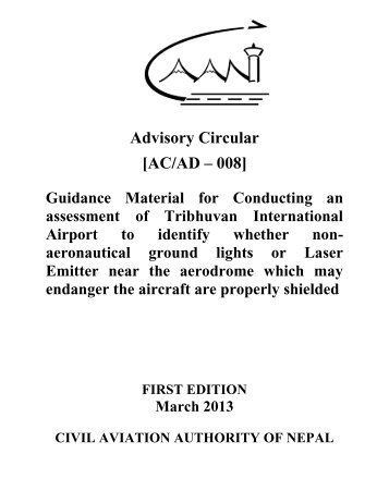Guidance material TIA - Civil Aviation Authority of Nepal