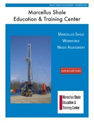 Marcellus Shale Education & Training Center - Northern Tier ...