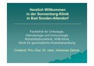 Pat.-Begrüßung Medizin - Sonnenberg-Klinik