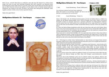 Weißgoldene Alchemie CD - Tom Kenyon Weißgoldene Alchemie CD