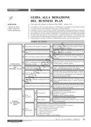 guida alla redazione del business plan bnl