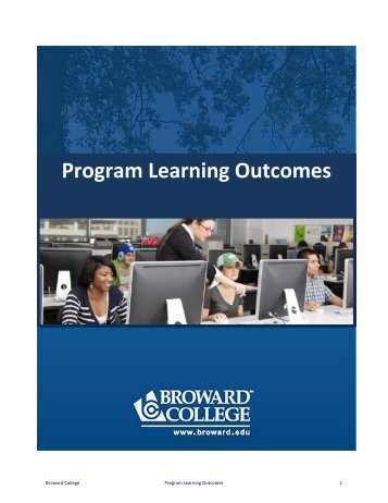 Program Learning Outcomes - Broward College