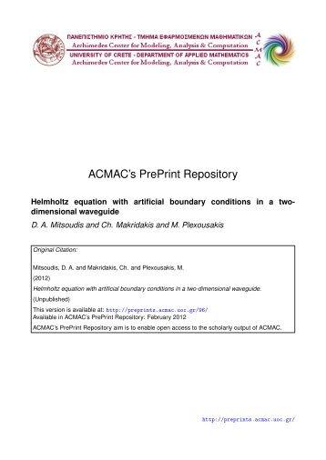 Download (439Kb) - ACMAC's PrePrint Repository