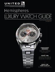 Hemispheres Magazine Luxury Watch Insert