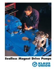 Micky brochure - Sealless Magnetic Drive Pumps