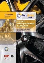 Exhibition and Sponsorship Brochure - EuroBrake 2013