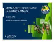 Strategically Thinking about Regulatory Features - CampusInsight