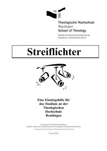 Streiflichter - Theologische Hochschule Reutlingen