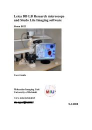 Leica DB LB Research microscope and Studo Lite Imaging software