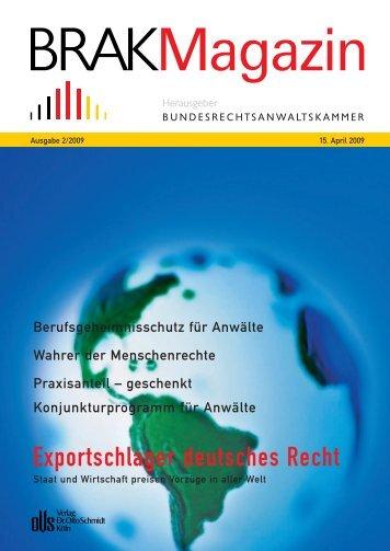 Exportschlager deutsches Recht - brak-mitteilungen.de