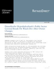 Düsseldorfer Hypothekenbank's Public Sector Covered Bonds On ...