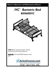 Invacare Bariatric Electric Hospital Bed User Manual ... - ActiveForever