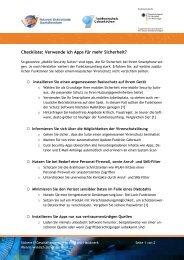 Checkliste - Institut für Internet-Sicherheit