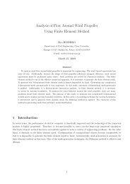 Analysis of Flow Around Wind Propeller Using Finite Element Method