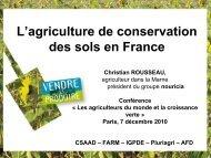L'agriculture de conservation des sols en France - Fondation FARM