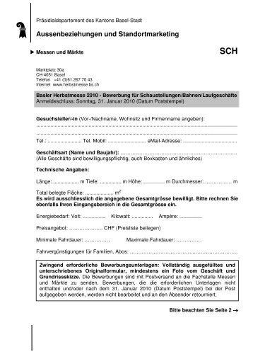 Bewerbung für Schaustellungen_Bahnen_Laufgeschäfte 2010