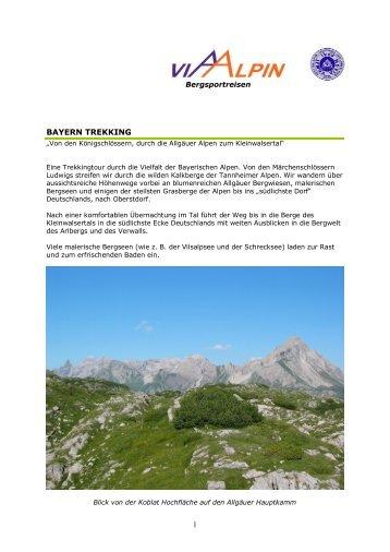 1 BAYERN TREKKING - Via-Alpin.de