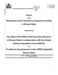 Workshop on the reduction of maternal mortality in ... - UNFPA Nigeria