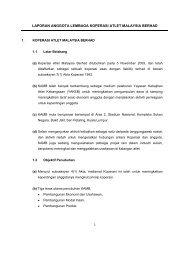 Laporan Koperasi - Koperasi Atlet Malaysia Berhad (KAMB)