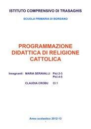 Programmazione definitiva Religione Sc Primaria Bordano as 2012-13