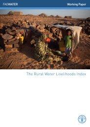 The Rural Water Livelihoods Index - FAO