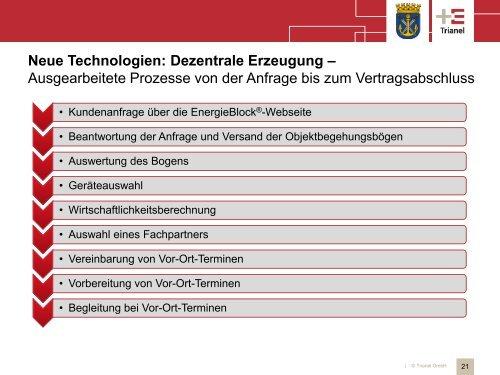Neue Technologien: Dezentrale Erzeugung