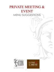 View Our Event Menus - Hotel Icon