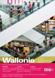 Wallonie n - Conseil économique et social de la région wallonne