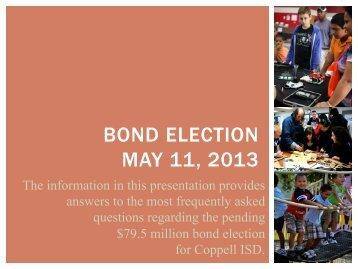 Bond Presentation PowerPoint - Coppell Independent School District