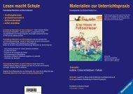 Materialien zur Unterrichtspraxis Lesen macht Schule - mein. Buch