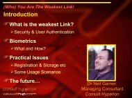 (Who) You Are The Weakest Link! - Consult Hyperion