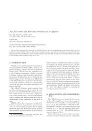 ATLAS status and first run scenarios for B physics - Particle Physics