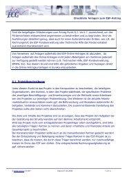 Checkliste für Anlagen zum ESF-Antrag - ECG GmbH Berlin