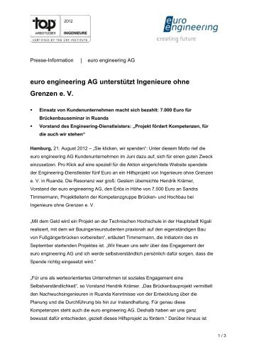 Presse-Information | euro engineering AG - Ingenieure ohne Grenzen