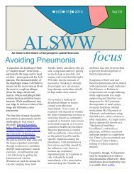 Avoiding Pneumonia - ALS Worldwide