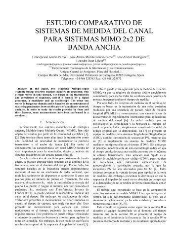 ESTUDIO COMPARATIVO DE SISTEMAS DE MEDIDA DEL CANAL ...
