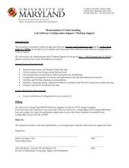 Memorandum of Understanding - Office of Information Technology