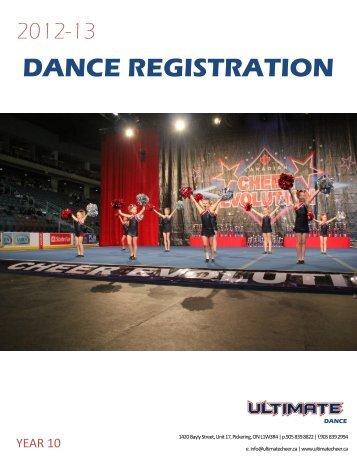 DANCE REGISTRATION - jotsee