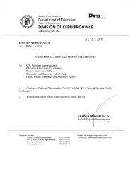 Memo No. 300, S. 2012 - DepEd Cebu Province